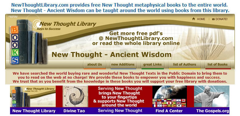 NewThoughtLibrary.com &quot;the world's source for New Thought